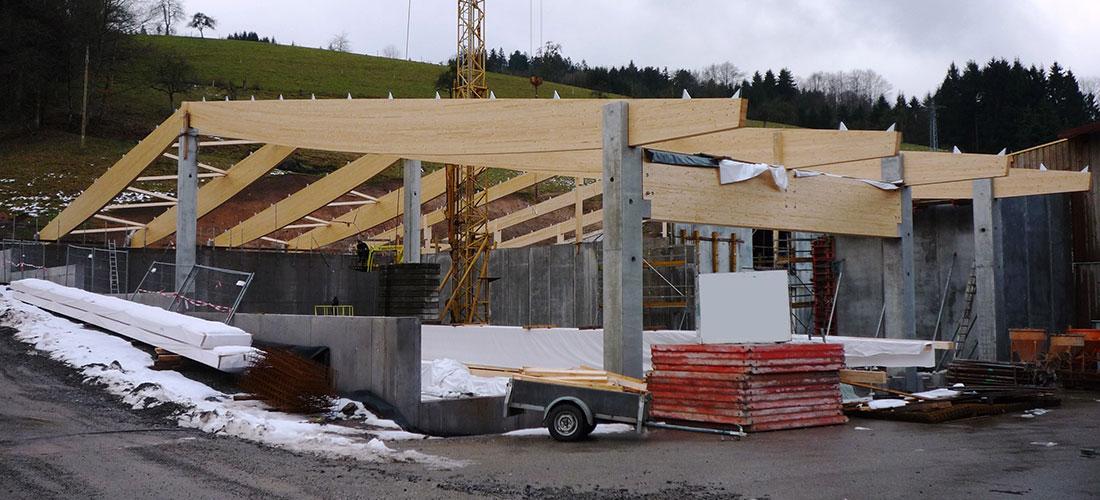 Sägewerk Echtle investiert in eine Sprinkleranlage sowie in den Neubau einer klimatisierten Halle
